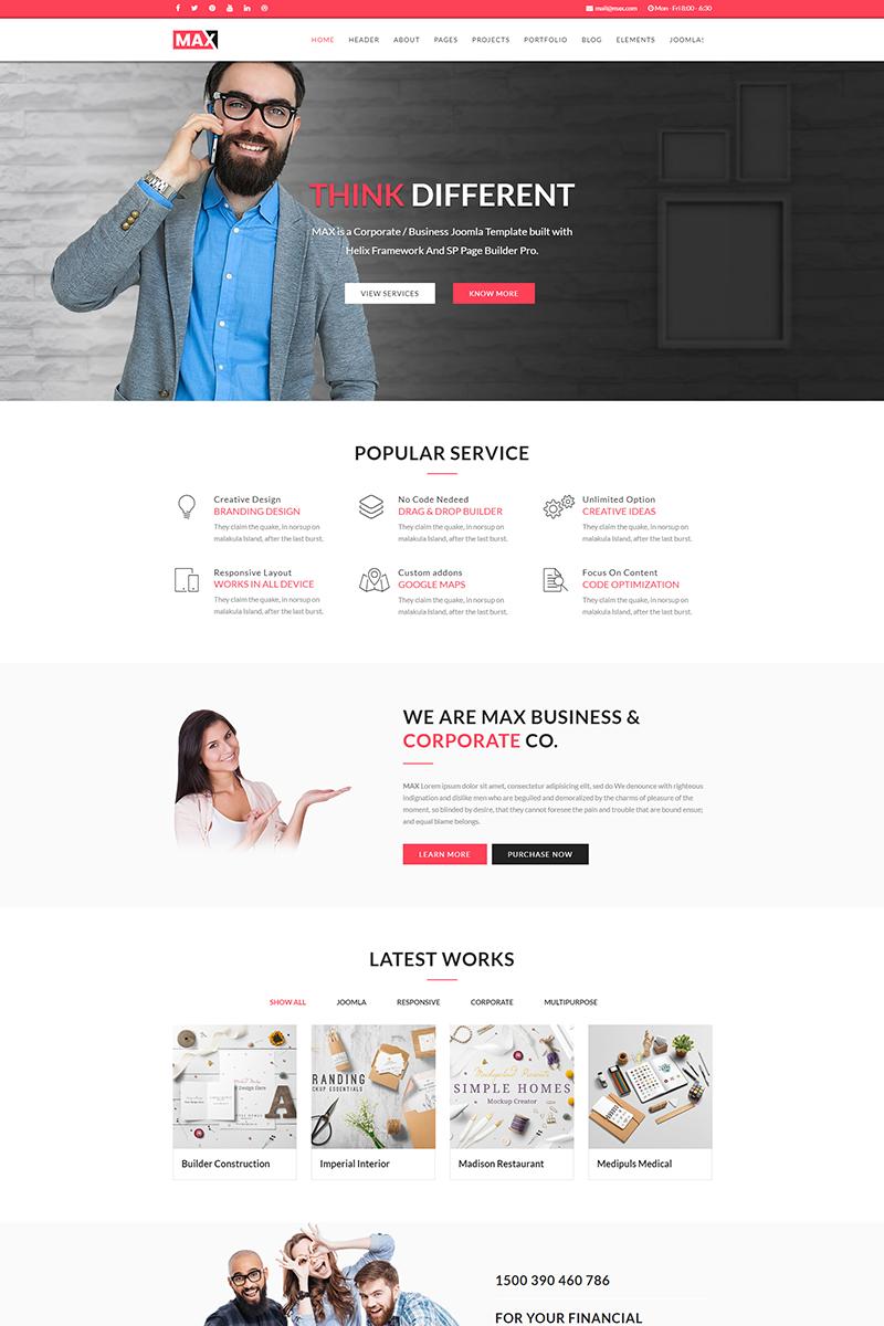 Max business joomla template 64664 flashek Gallery