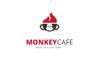 Monkey Cafe - Logó sablon Nagy méretű képernyőkép