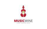 Music Wine Logo Template