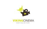 Viking Cinema Logo Template