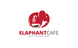Elephant Cafe Logo Template