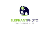 Elephant Photo Logo Template