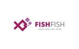 Fish Fish Logo Template