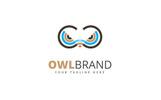 Owl Brand Logo Template