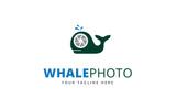 Whale Photo Logo Logo Template