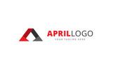 April A Letter Logo Template