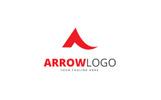 Arrow A Letter Logo Template
