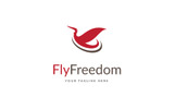 Fly Freedom Logo Template