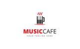 Music Cafe Logo Template