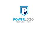 Power  P Letter Logo Template