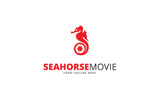 Seahorse Movie Logo Template