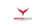 Writer Wings Logo Template