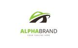 Alpha A Letter Logo Template