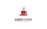 Szablon Logo Civet Coffee #69102