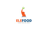 Elephant Food Logo Logo Template