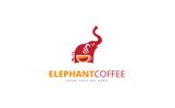 Elephant Coffee Logo Template