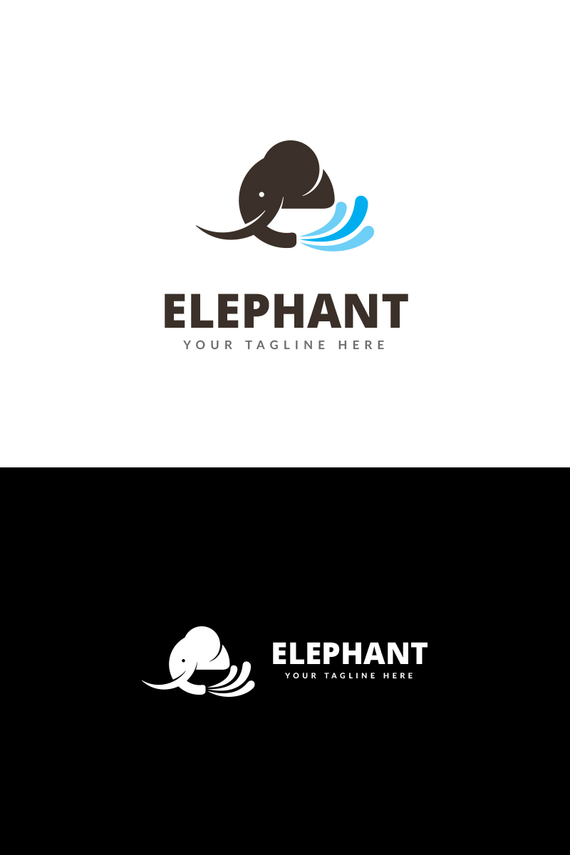elephant app logo template 69143