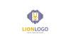 Line Lion Logo Template Big Screenshot