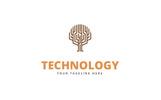 Creative Digital Tree Logo Template