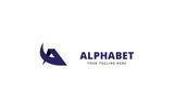 Alphabet A Letter Logo Template