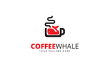 Coffee Whale Logo Template