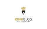 King Blog Logo Template