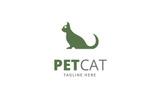 Pet Cat Logo Template
