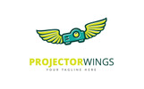 Projector Wings Logo Template