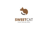 Sweet Cat Logo Template