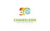 Cute Chameleon Logo Template