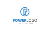 Power P Letter Logo Template