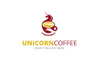 Unicorn Coffee Logo Template Big Screenshot