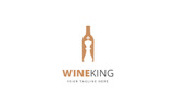 Wine King Logo Template