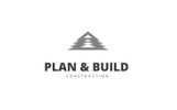 """Plan & Build"" Logo template"
