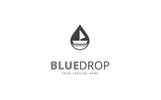 Blue Drop Logo Template