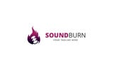 Sound Burn Logo Template