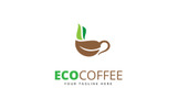 Eco Coffee Logo Template