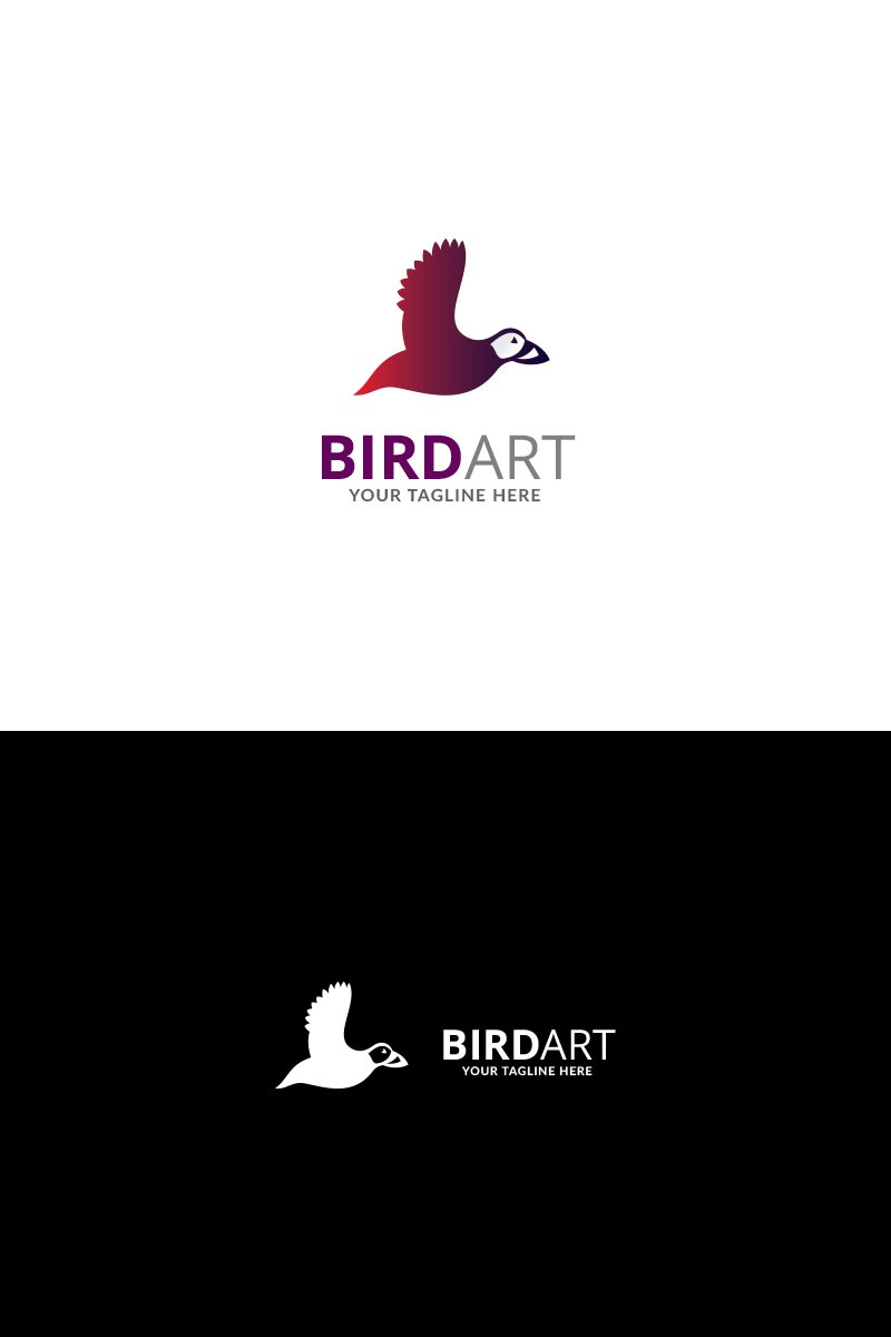 Bird Art Design Logo Template 70765