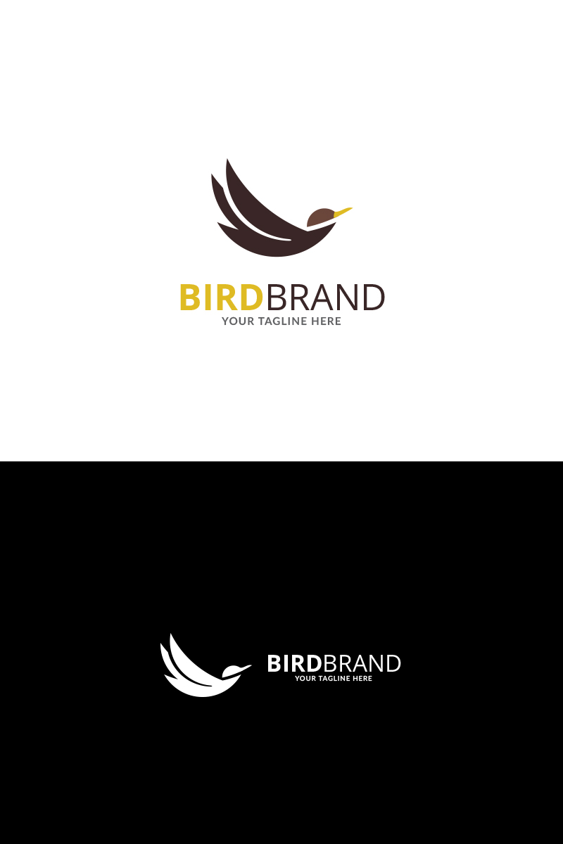 Flying Bird Brand Logo Template 71102