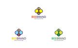 "Logo Vorlage namens ""Bee Brand"""