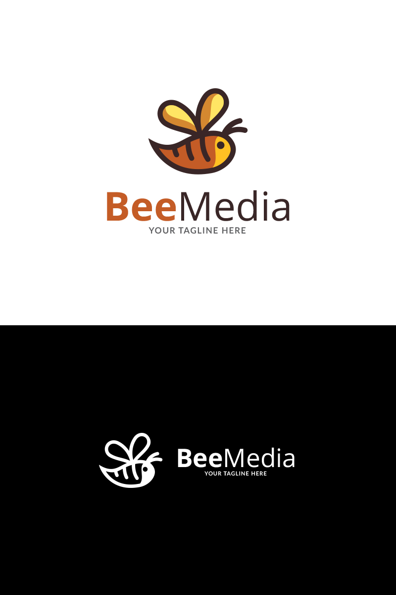 Bee news brand logo template 73341 maxwellsz