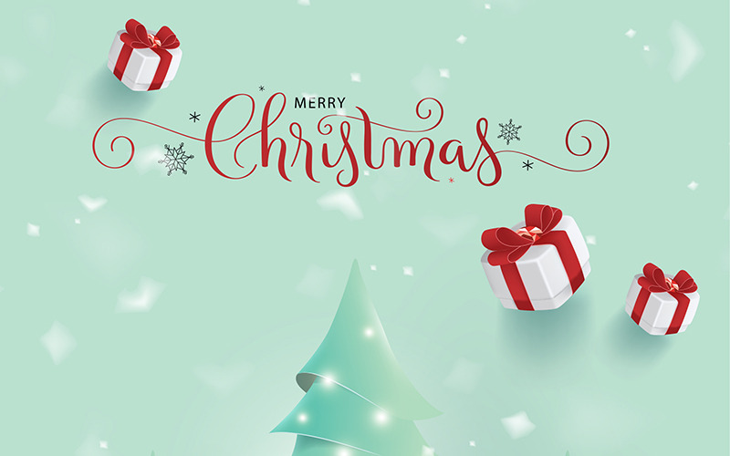 Merry Christmas Greetings Illustration - Features Image 1