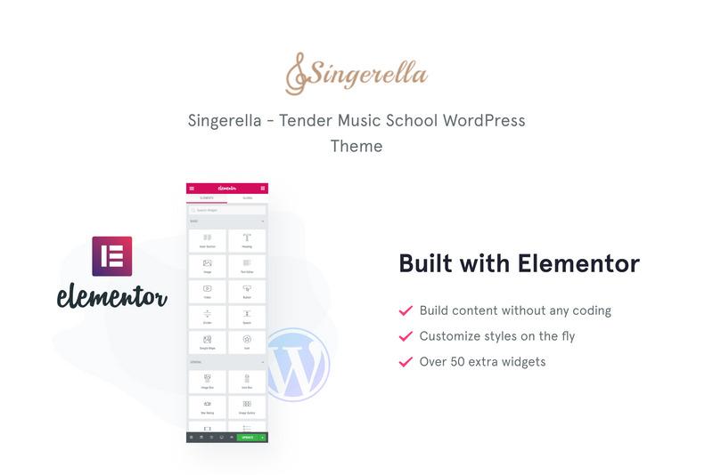 Singerella - Music School WordPress Theme - Features Image 1