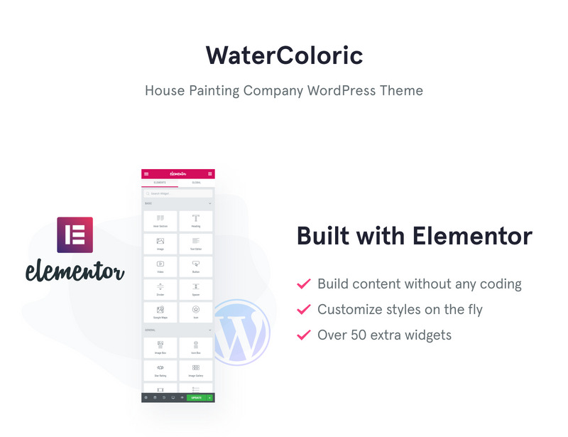 WaterColoric - House Painting Company WordPress Theme - Features Image 1