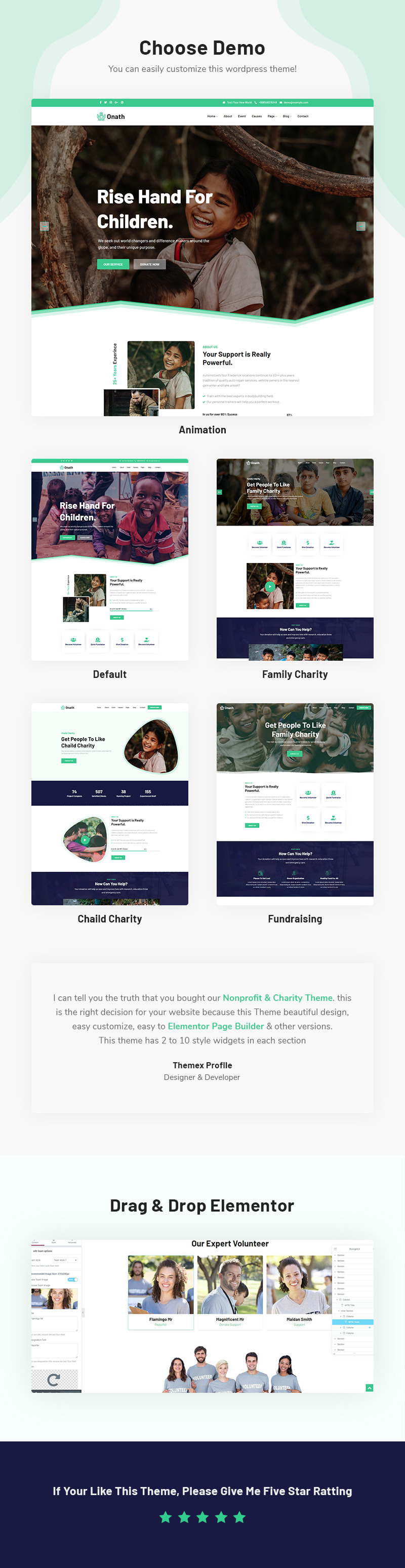 Onath - Nonprofit and Charity Responsive WordPress Theme - Features Image 1