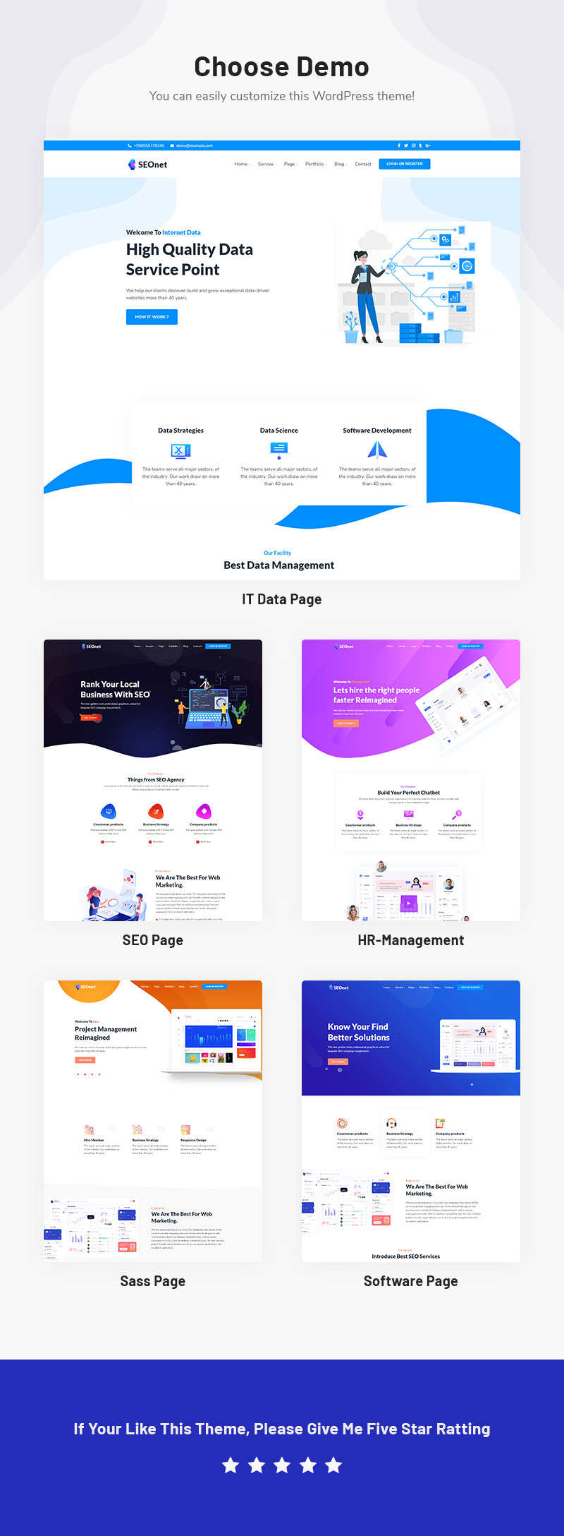 Seonet - SEO and  Digital Marketing WordPress Theme - Features Image 1