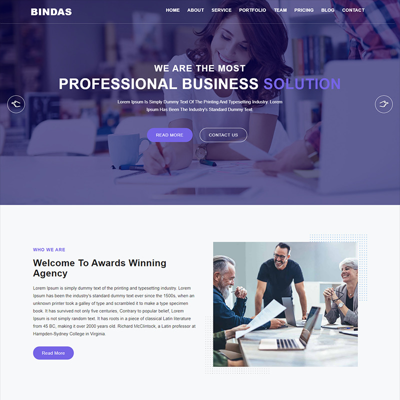 Bindas Consulting & Business Landing Page Template - Features Image 1