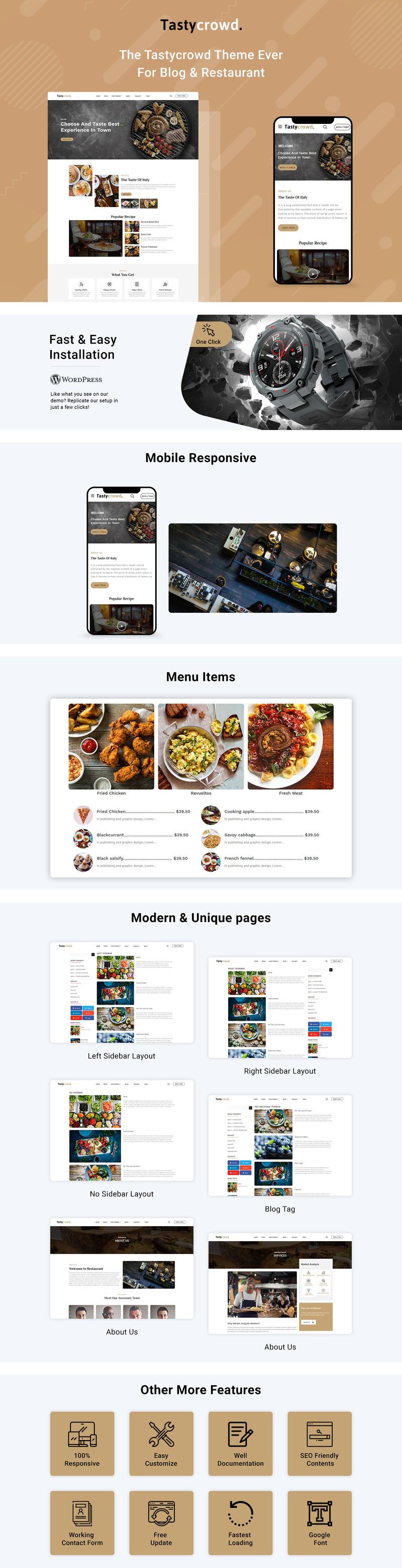 Tastycrowd - Cafe & Restaurant WordPress Elementor - Features Image 1