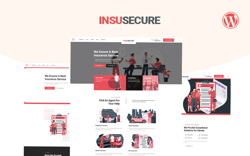 Insusecure Multipurpose insurance WordPress Theme - Features Image 1