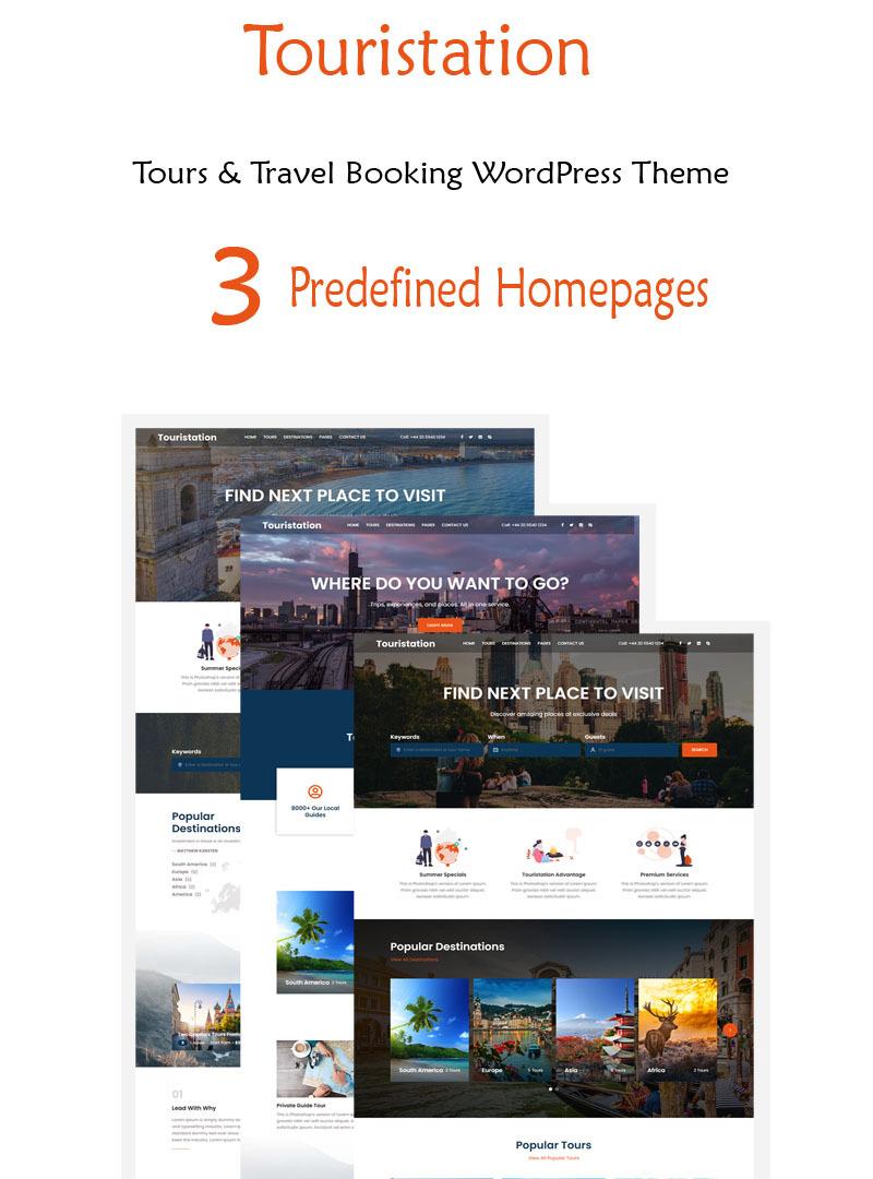 Touristation - Tours & Travel Booking WordPress Theme - Features Image 1